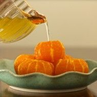 Mandarin Oranges in Ginger-Rosemary Syrup