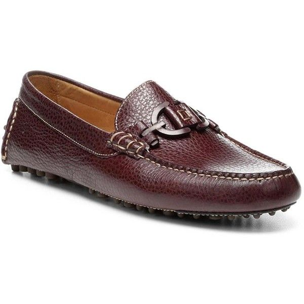 Donald J Pliner Men's RIEL2 - Tumbled Calf Driving Loafer ($195) ❤ liked on Polyvore featuring men's fashion, men's shoes, men's loafers, donald j pliner mens shoes, mens driver shoes, mens moccasins shoes, mens lightweight running shoes and mens driving shoes