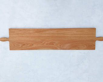 60 Inch- Double Handle Extra Large Wooden Serving Platter in Oak- by Red Maple Run- Cutting Board- Gift for Foodie
