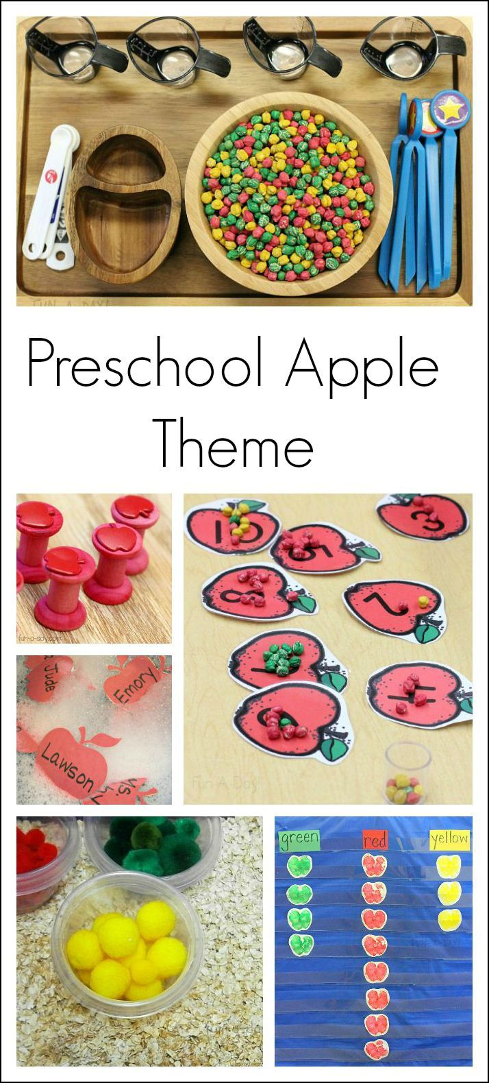 Kindergarten and preschool apple theme activities and ideas