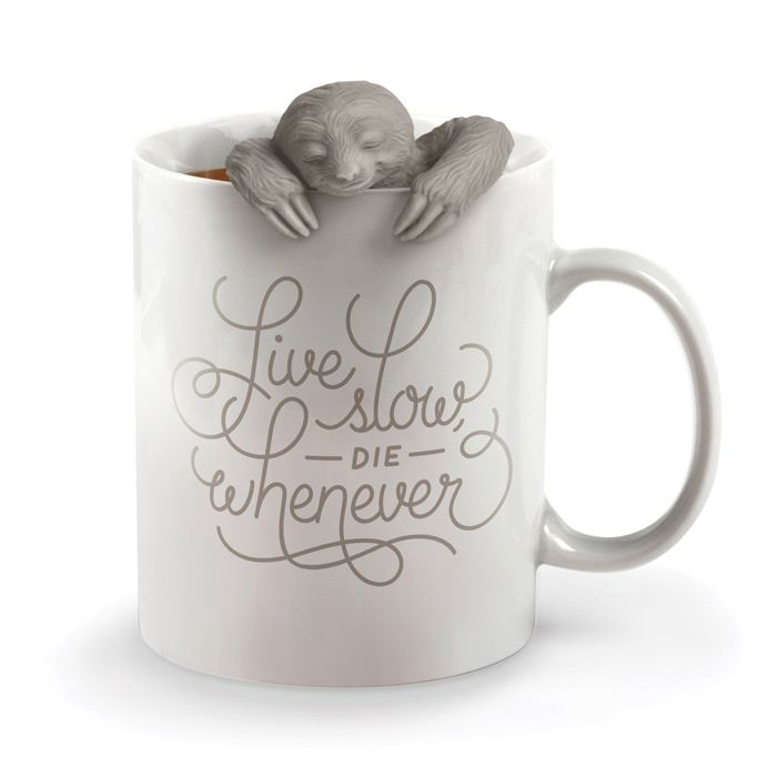 Slow Brew Sloth Tea Infuser Fred and friends Silicone infuser Relaxation | Yellow Octopus