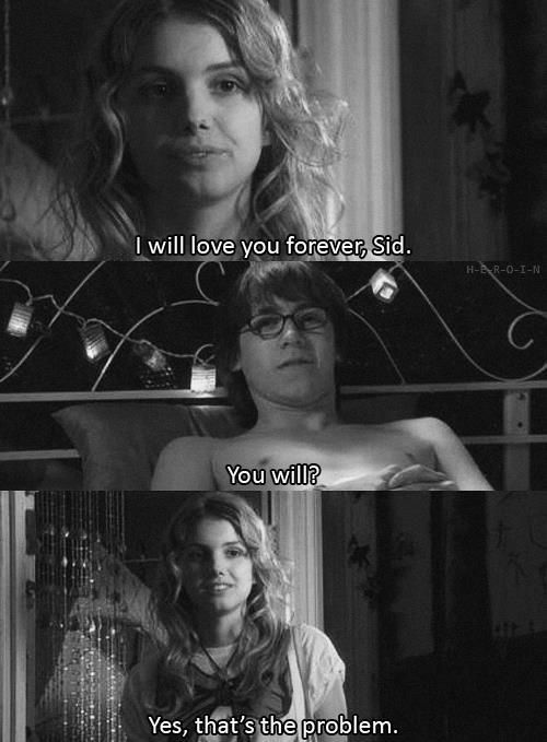 Skins. Sid and Cassie. One of my favourite OTP.