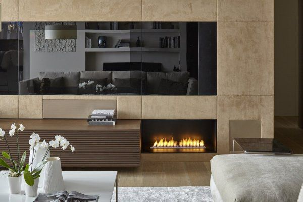 modern lakás természettel harmonizáló anyagok / Modern Living Room