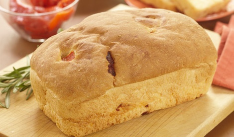 Bread Machine Roasted Pepper and Rosemary Bread