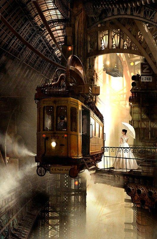 gorgeous stempunk tram