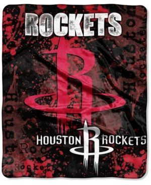 Northwest Houston Rockets Drop-Down Plush Throw Blanket - Red