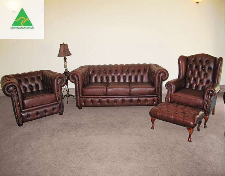 """Lech"" Chesterfield Lounge Suite  $AUD 4500"