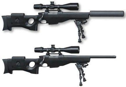 Снайперские винтовки CZ 750 S1M2 с глушителем и без глушителя