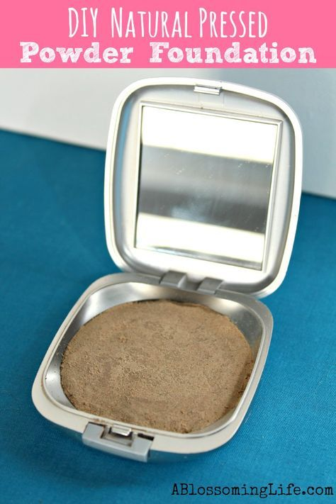 DIY All Natural Pressed Powder Foundation: Super simple and cheap
