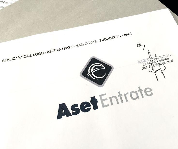 Nuovo logo Aset Entrate confermato!  #logo #aset #entrate #holding #spa #ideazione #grafica