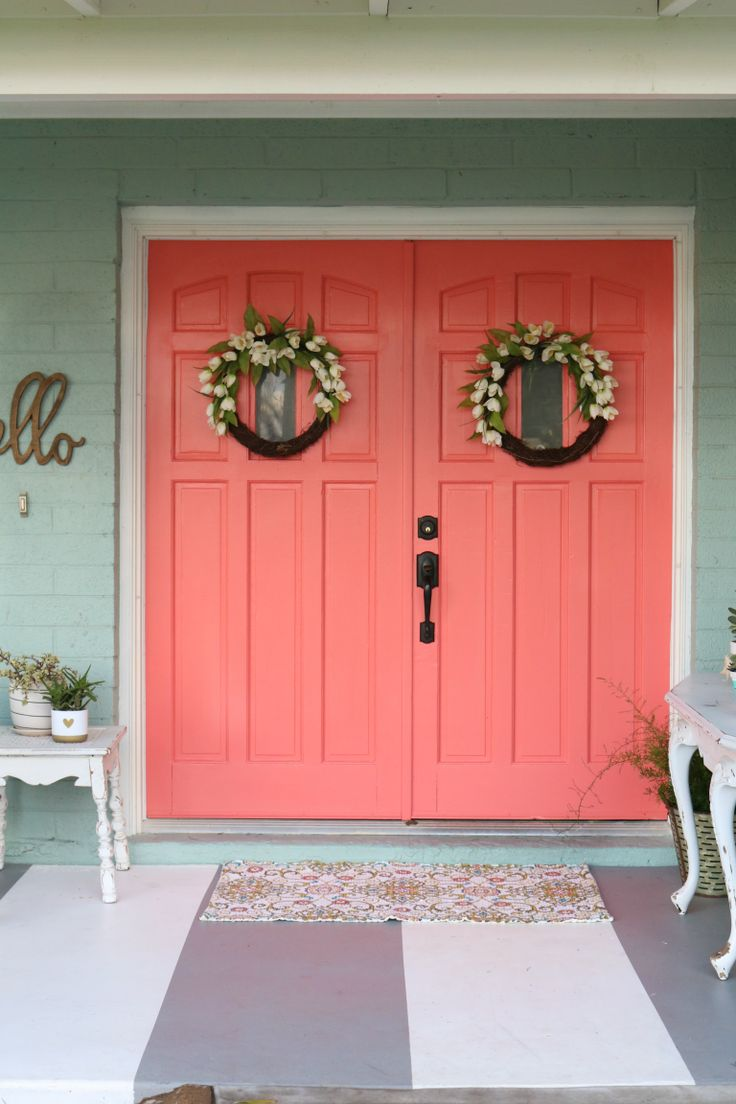 25 Best Ideas About Coral Front Doors On Pinterest