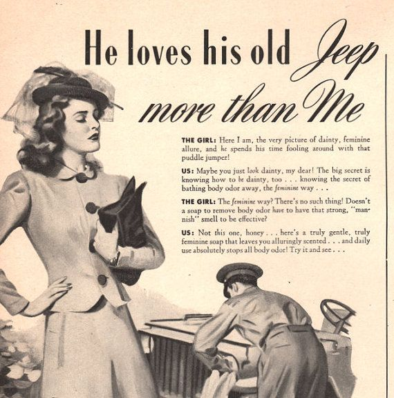 1943 Army Guy loves his Jeep more than his by catchingcanaries, $7.00