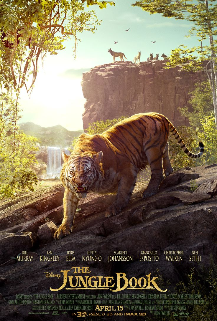 Meet Shere Khan, voiced by Idris Elba. The Jungle Book swings into theaters in 3D on April 15, 2016.