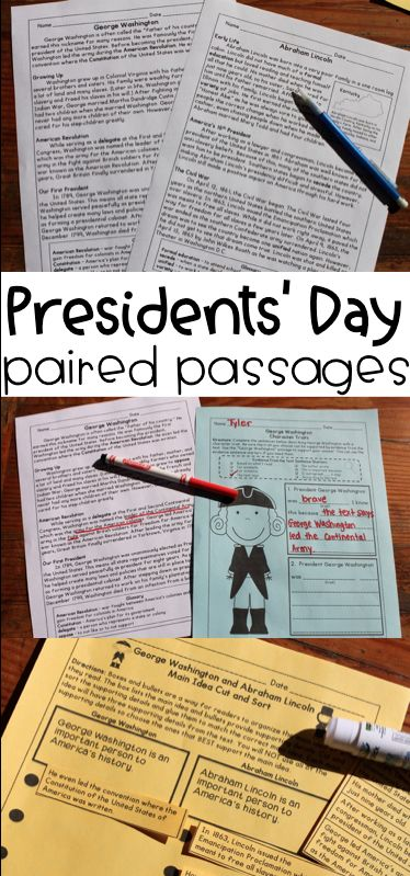 Presidents' Day Reading Comprehension Paired Passages and Close Reading Activities! Great biography practice for George Washington and Abraham Lincoln. This can be used in reading or social studies to study famous Americans and history.