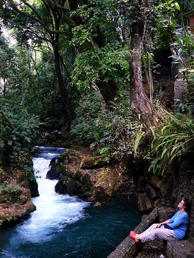 National Park in Uruapan in the Michoacan Coast: A long walking trail and lots of beautiful forestry