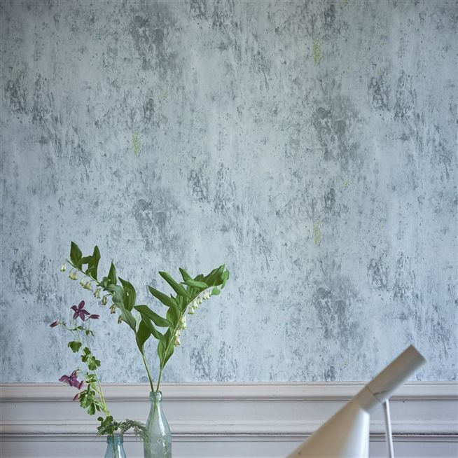 michaux - slate blue wallpaper