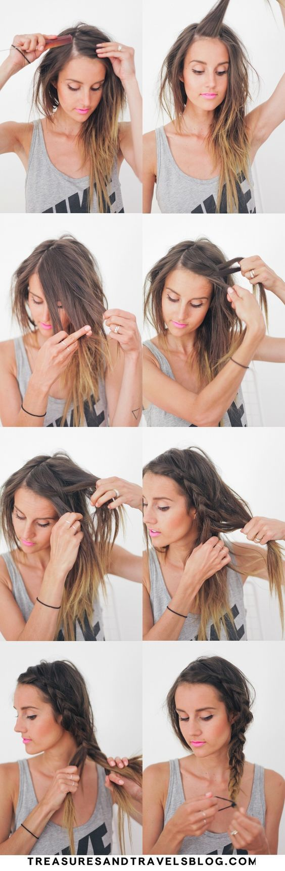 5 college hairstyles with braid step by step tutorials