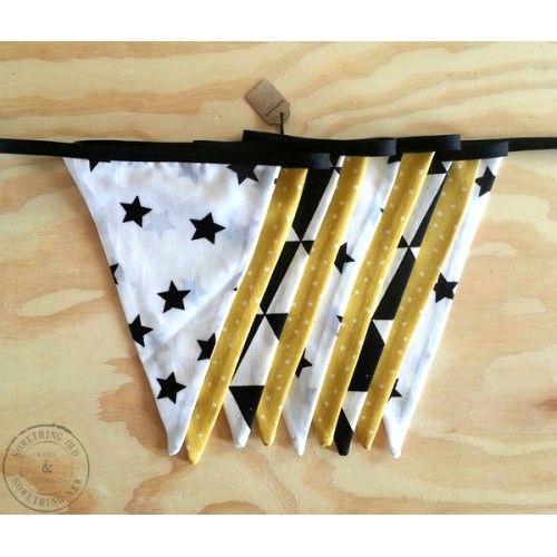 Stoffen vlaggenlijn Handmade Black/Yellow