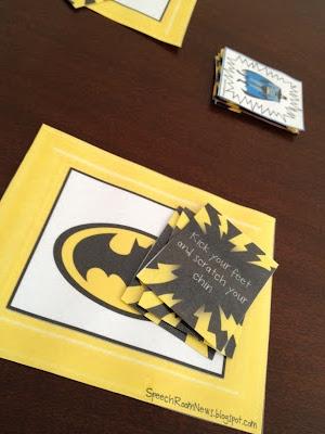 FREE Batman following directions game!! Speech Room News: Super Hero Speech