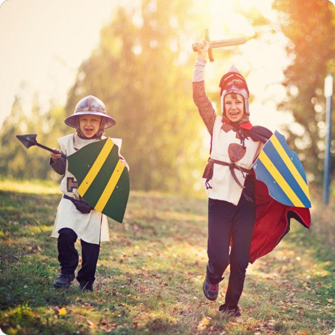 Ritterspiele zum Kindergeburtstag und die Party kann beginnen…