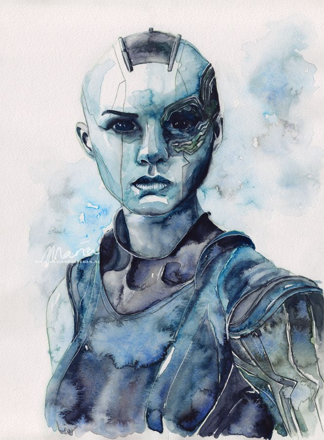 Sisterhood · Nebula from The Guardians of the Galaxy ·  Painting by Maria Bruggeman Originals · Online Store Powered by Storenvy
