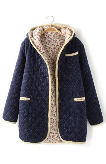 ++ vintage polka dots hoodie outerwear