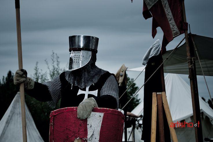"Hospitaller knight, around 1248. Picture by Wim Roelsma. Dutch reenactment group ""De Hospitaalridders""."