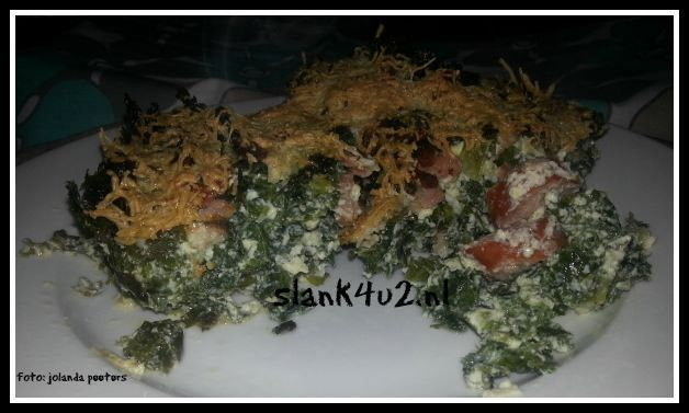 KHA Boerenkool quiche met rookworst en spekjes