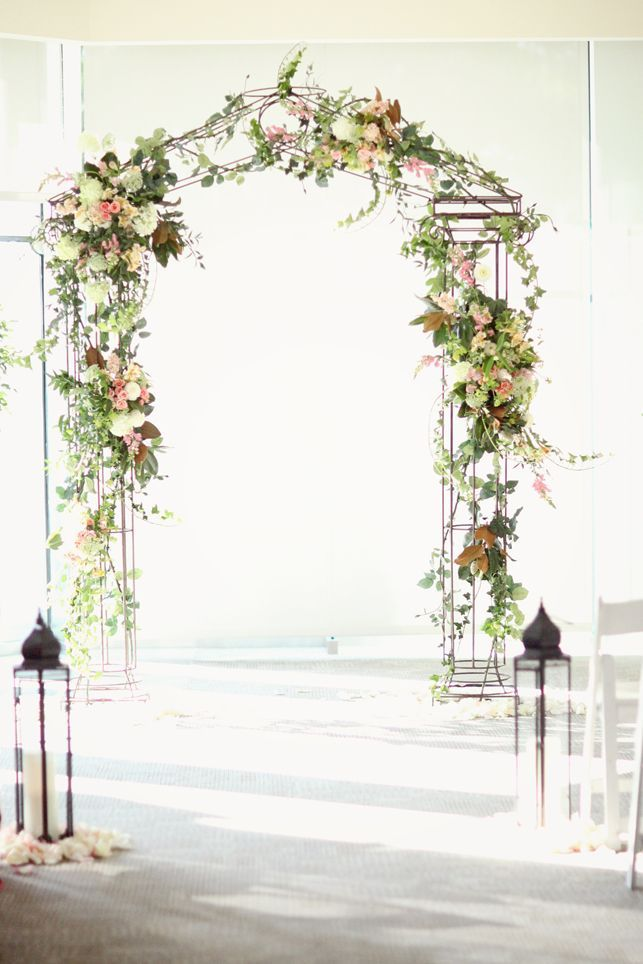 2036 best images about ceremony decor on pinterest for Diy indoor wedding arch