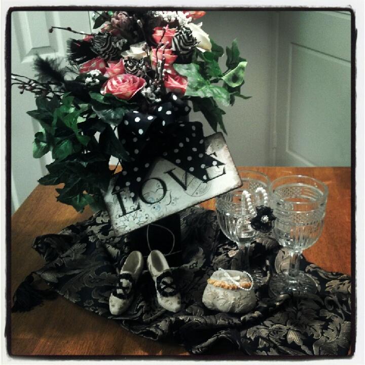 Duck tape flowers bouquet