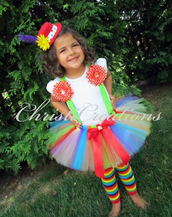 girl clown costume halloween clown tutu hat tutu suspenders and leg warmers - Girl Clown Halloween Costumes