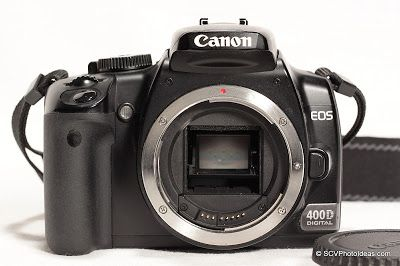 A reference page for the Canon EOS 400D / Digital Rebel XTi camera with BG-E3 Battery Grip as illustrated, used and supported in various of the blog's articles and reviews. #canon #canoneos400d #canondigitalrebelXT #canoncamera #dslr #reference