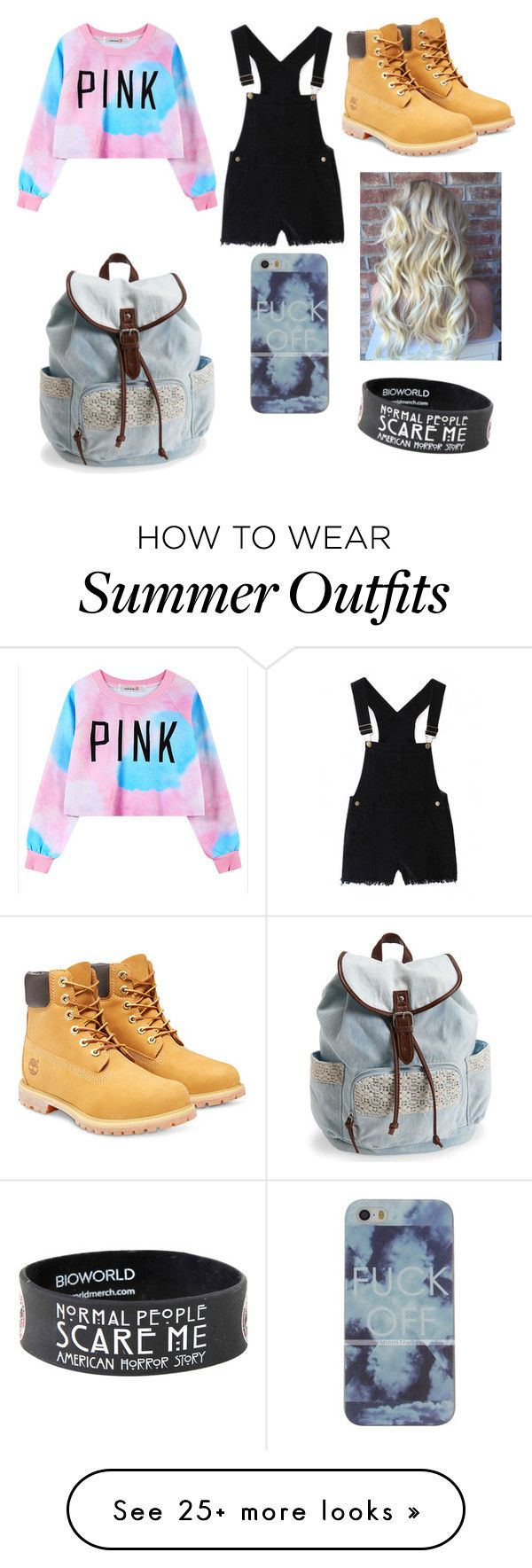 """go to summer outfit #1"" by meonfleek12 on Polyvore featuring Chicnova Fashion, Timberland, Aéropostale, women's clothing, women, female, woman, misses and juniors"