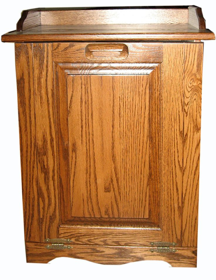 Wooden Amish trash cans bins & Amish wooden laundry bins