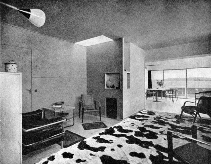 Le Corbusier S House With The Argentine Cow Rug A Gift Of Mrs