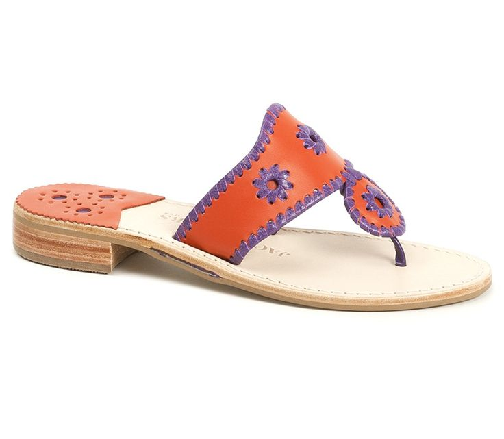 Jack Rogers College Colors - Orange & Purple @Clemson Athletics @Clemson University #tigers #clemson