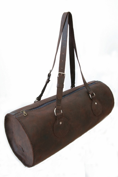 Ledertasche // Brown leather bag by detailFabrik via DaWanda.com