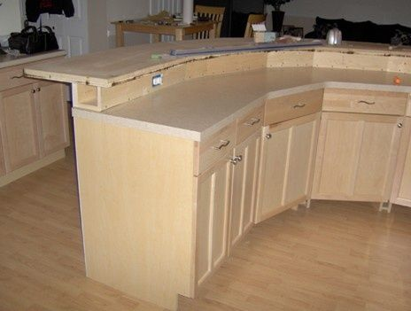 Construction Detail 2 Tier Kitchen Island With Electrical