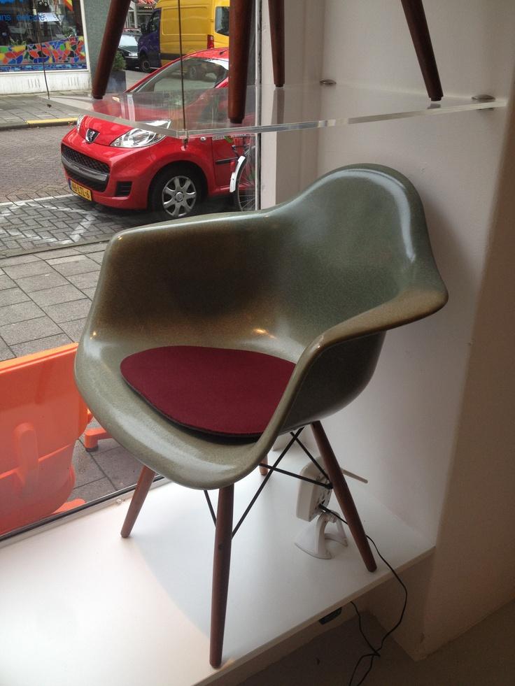 Eames fiberglass DAW chair in mint Depot Rotterdam