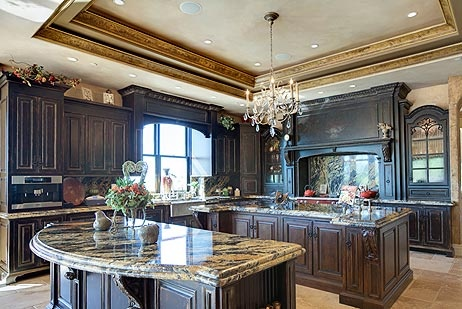 Superior Elegant Kitchen In Tuscan Villa Styled Home For Sale. Located In Danville,  CA.