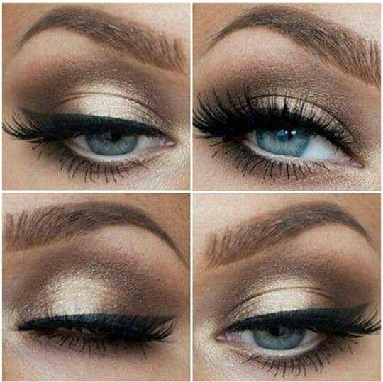 Neutral eyes makeup