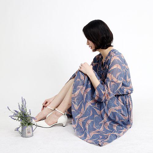 Serenity & Rose Quartz Long Dress