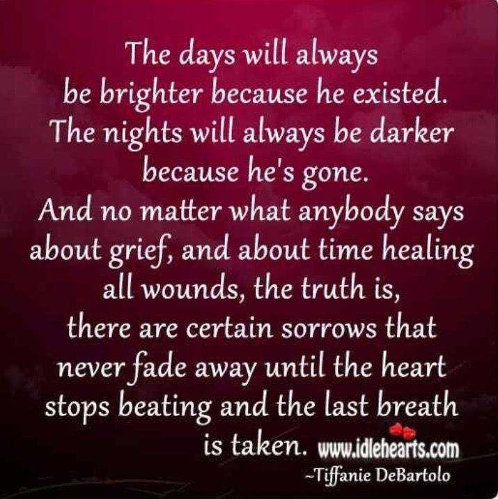 The grieving heart knows no time table; time as we chart it does not exist for those who have lost a child.....
