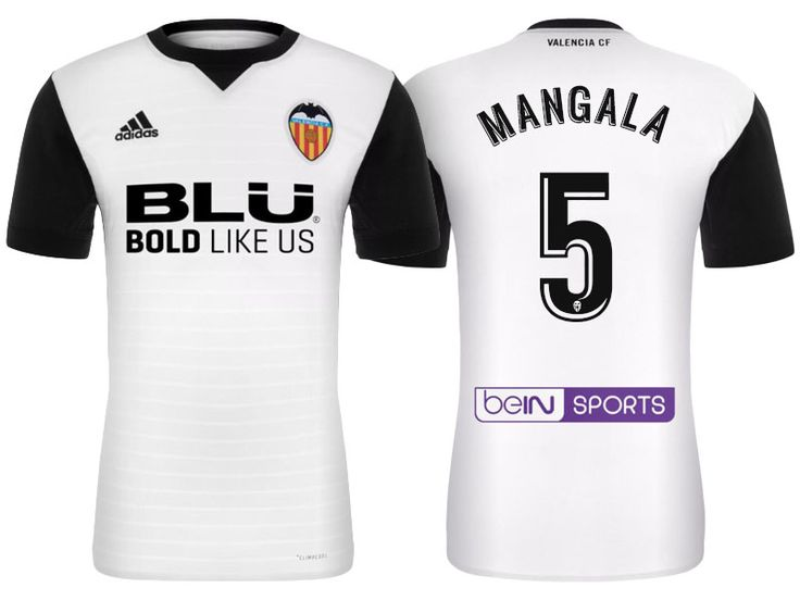 Valencia #5 Eliaquim Mangala 17-18 Home Short Shirt
