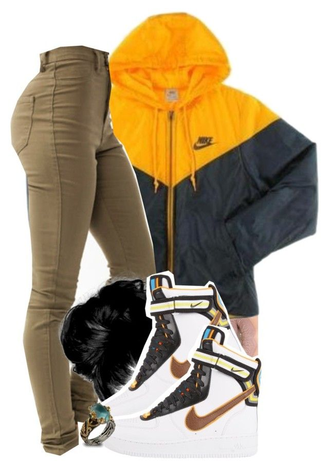 """""""ayo -Chris Brown and Tyga"""" by pretty-ambi ❤ liked on Polyvore featuring Castello, NIKE and Emma Chapman"""
