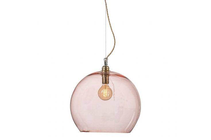 Ebb and Flow Rowan pendant lamp bright coral