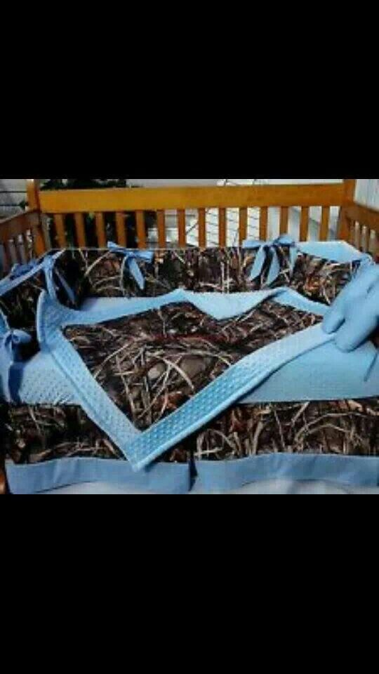 Camouflage baby bed