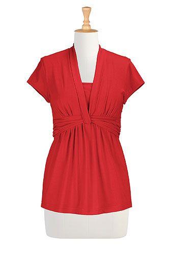 Women's fashion clothes - Women's Long Sleeve Tops - Ladies Tops, Fashion Tops, Tunic Tops, Plus Size Tops - | eShakti.com