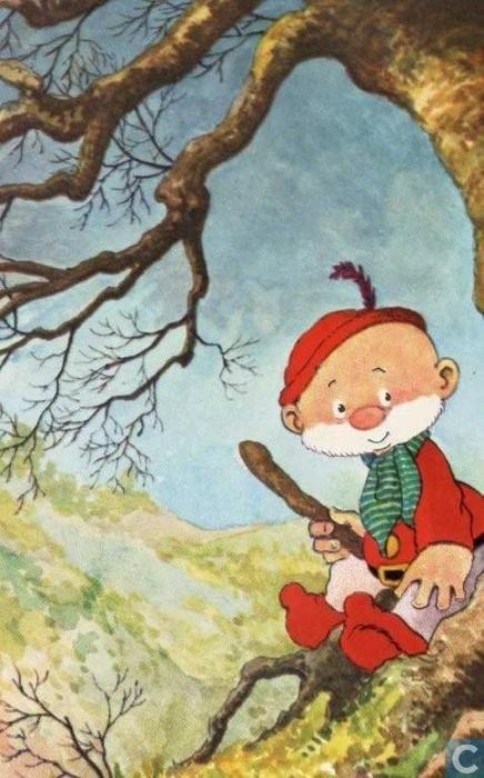 Ansichtkaarten - Paulus de boskabouter - Voor het kind-Paulus onder boom