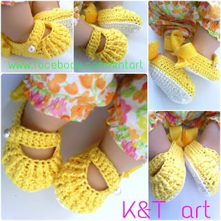 Crochet Baby Shoes - Free tutorial
